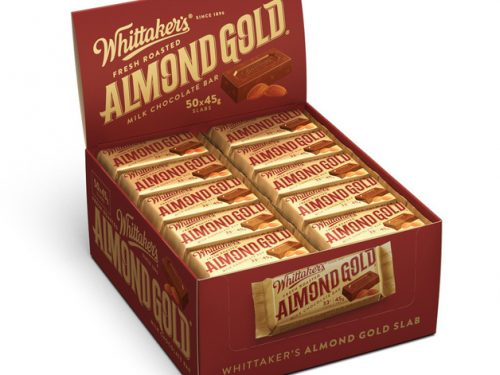 Whittaker's Almond Gold slab 45g x 50
