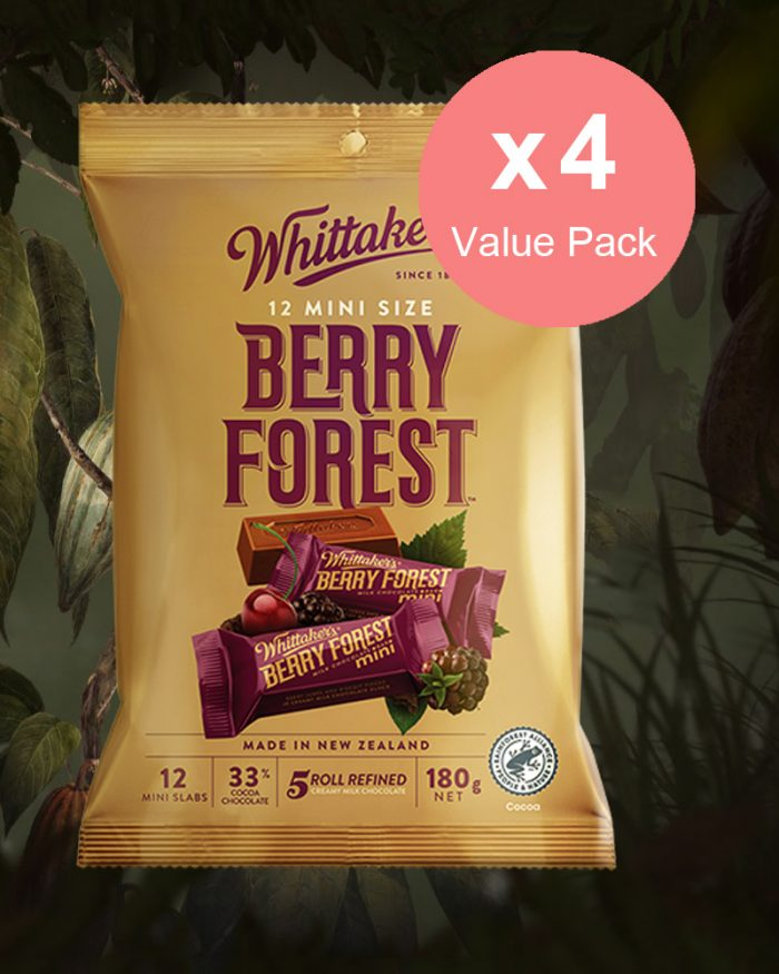 Whittaker's Mini Slab Berry Forest 180g x 4