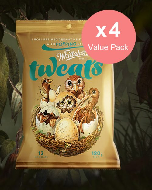 Whittakers Mini Slab Chocolate Popping Candy Tweats 180g x 4