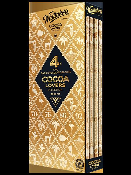 whittakers cocoa lovers dark chocolate blocks 100g x 4