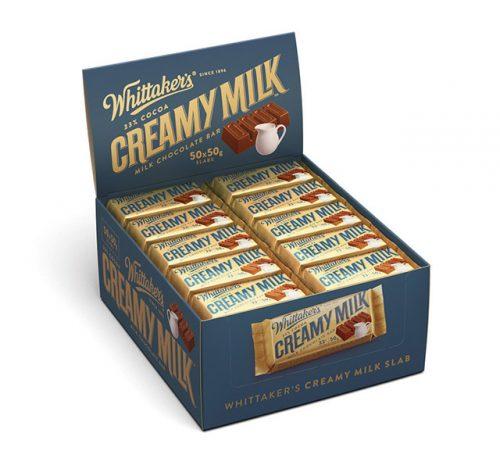 Whittaker's Creamy Milk slab 50g x 50