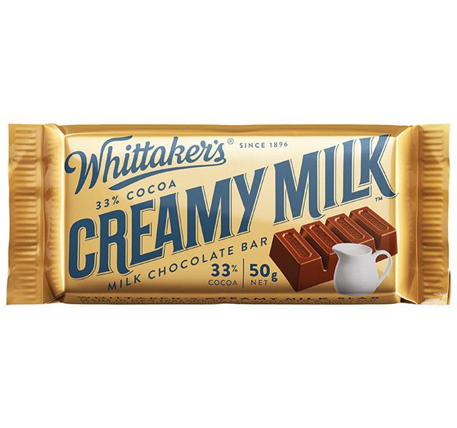 whittaker's creamy milk slab bar