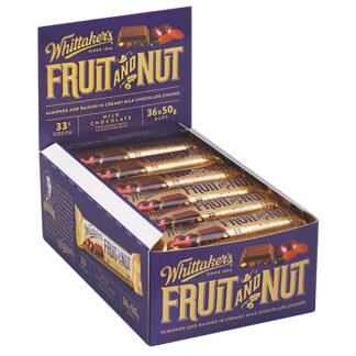 Whittaker's Fruit & Nut Chunky Bar 50g x36