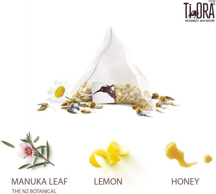 Ti Ora Herbal Infusion Lemon Honey with New Zealand Manuka Leaf