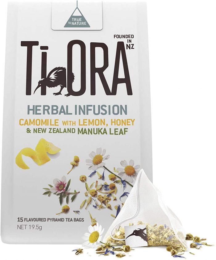 Ti Ora Herbal Infusion Lemon Honey With New Zealand Manuka Leaf Pyramid Tea Bags