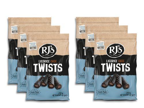RJ's Licorice Choc Twists 280g