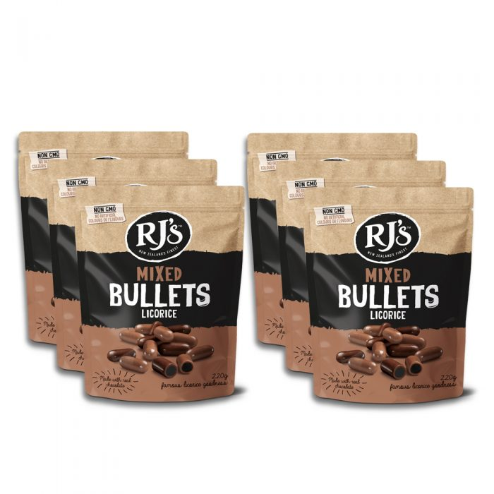 RJ's Mixed Licorice Bullets 220g