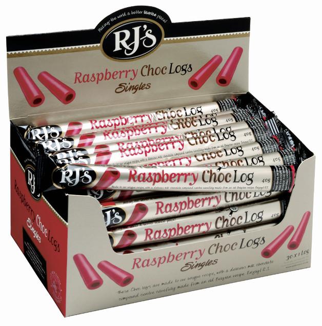 RJ's Raspberry Choc Logs