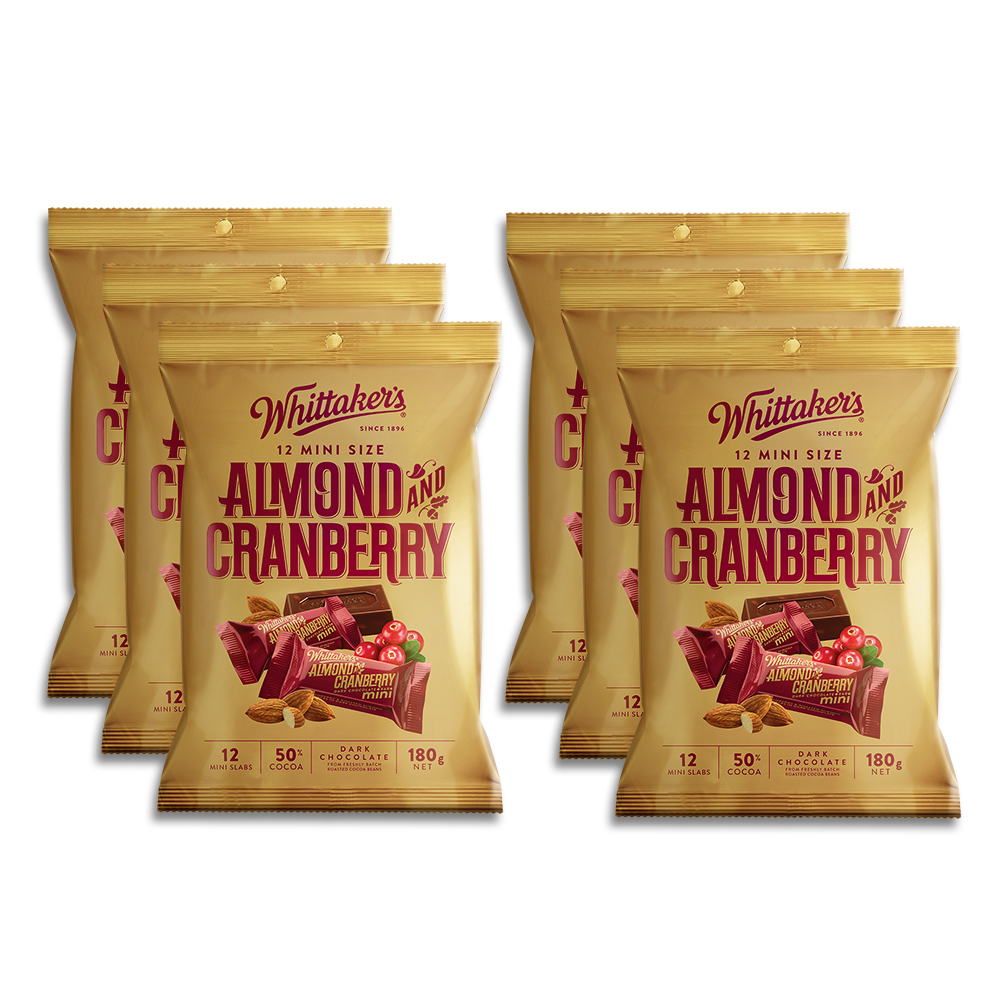Whittaker's-Share-Pack-Mini-Slab-Almond-Cranberry