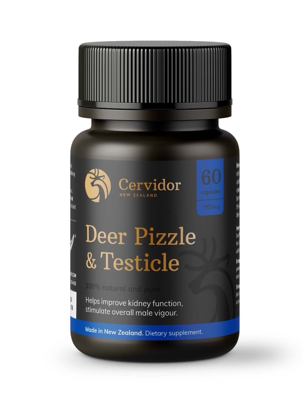 New Zealand deer pizzle and testicle capsules