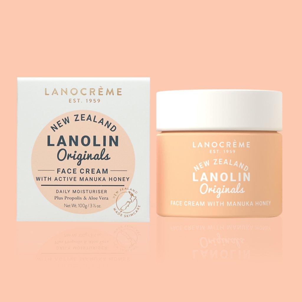 Lanocreme Lanolin Face Cream with Manuka Honey